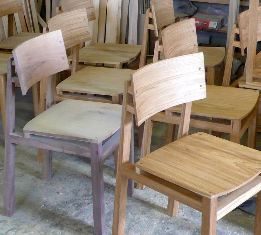 Sedie artigianali in legno massello ecologico realizzate in rovere o ...