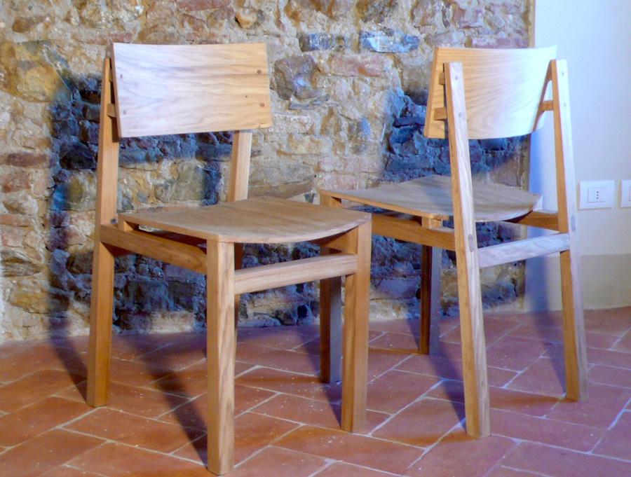 Sedie artigianali in legno massello ecologico realizzate ...