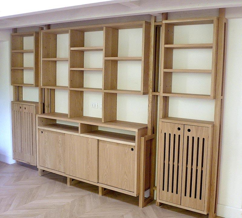 Uva Spina scaffale libreria in legno massello